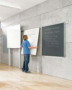 Modulare Schienensysteme für Whiteboard, Pinnwand oder Tafel