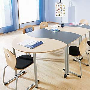 Vielfältige Kombinationsmöglichkeiten mit Tischsystemen