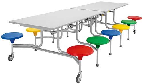 12er-Tisch-Sitz-Kombination rechteckig