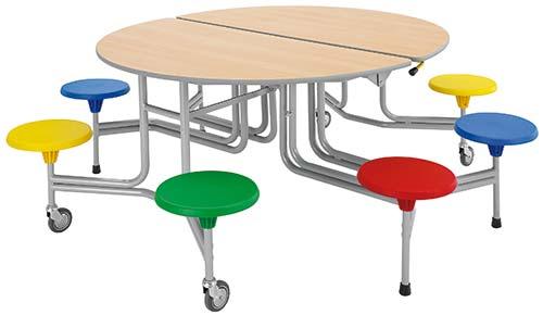 8er-Tisch-Sitz-Kombintaion oval