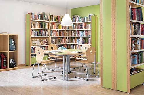 Bibliothek Rahmenausführung Buche
