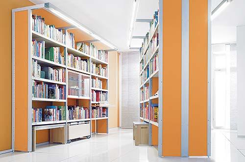 Bibliothek Rahmenausführung Stahl
