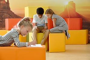 Kinder lernen in Pausen- und Rückzugsorten