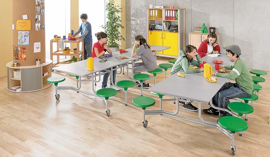 Mensa Tisch-Sitz-Kombination