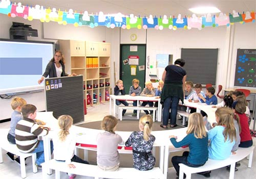 Optimaler Sichtkontakt im Klassenzimmer