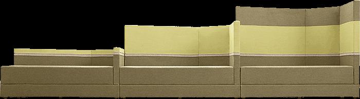 Sofa Einzelelemente Rückenlehnenvariationen